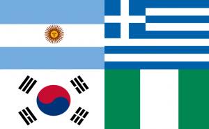 Vlaggen van Groep B WK 2010