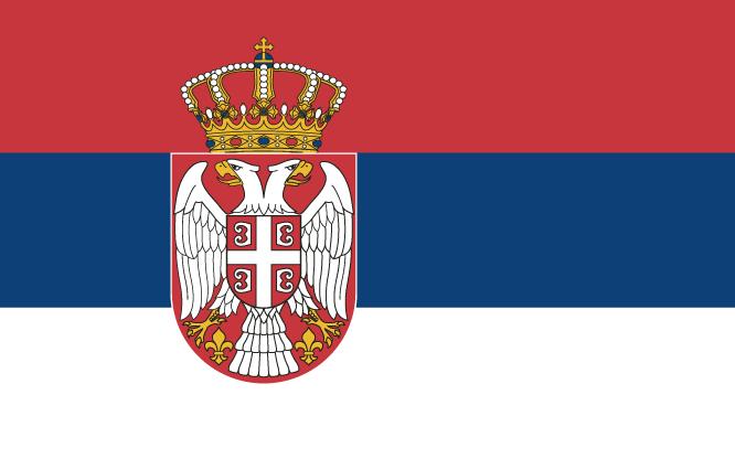 Servië vlag Wk 2010 Zuid-Afrika