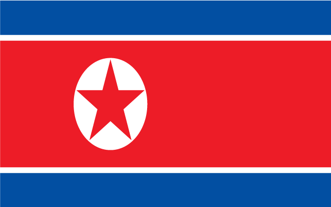 Noord-Korea Vlag 2010 WK Zuid-Afrika