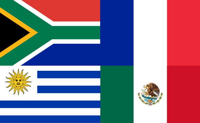 Vlaggen van alle Landen uit Groep A