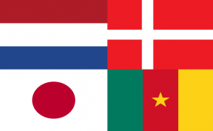 Vlaggen van landen uit Poule E Wk 2010