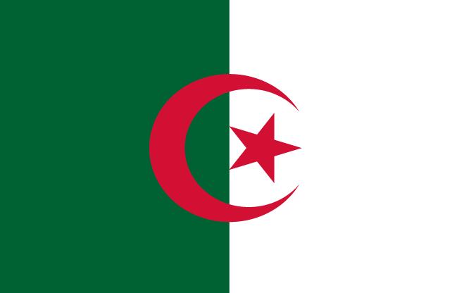 Algerije Vlag WK 2010 Zuid-Afrika